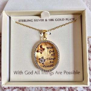 Sterling Silver/18K Gold Plate Necklace